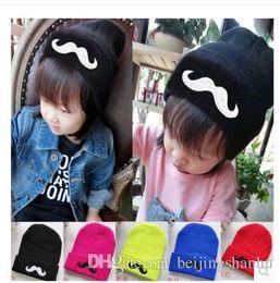 Wholesale Beanie Beard Kids - Children's Hat Beard Moustache Baby Hat Knit Hip-hop Cap for Autumn and Winter Kids Skullies & Beanies 1pc