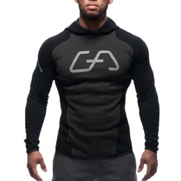 Wholesale Workout Hoodies - Wholesale-Mens Bodybuilding Hoodies Gym Brand-clothing Workout Shirts Hooded Sport Suits Tracksuit Men Chandal Hombre Gorilla wear Animal