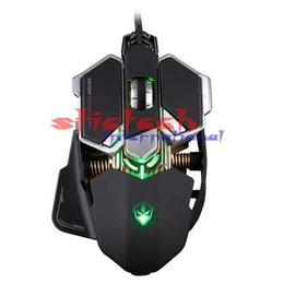 Wholesale Am3 Gaming - by dhl or ems 100pcs G10 4000 DPI LED Optical USB Mechanical Wired Gaming Mouse Defined Macro Programming10 Keys