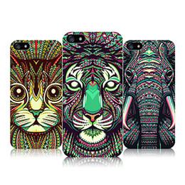 Coque iphone roi lion en Ligne-Motif animaux lumineux cas pour iphone 7 Lion Tigre guépard loup impression de protection TPU pour iphone 6 s 7 Plus forêt roi couverture