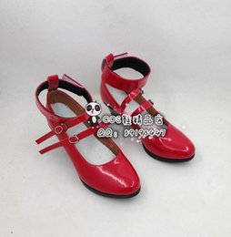 Wholesale Happy Boots - Wholesale-Danganronpa Trigger Happy Havoc Celestia Ludenbeck red cos Cosplay Shoes Boots shoe boot #JZ250 anime Halloween Christmas
