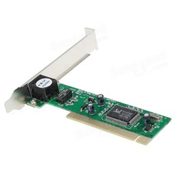 Wholesale Pci Card Wireless - Wholesale- SY-113 Gigabit 10 100M PCI RJ45 Ethernet NIC Network Lan Adaptor Card PCI Network card