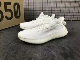 Wholesale Fluorescent Shoe Laces - ORIGINALS Kanye West Boost 350 V2 CP9366 CREAM WHITE CORE WHITE Triple White Fluorescent 14Colors Mens Running Shoes Drop Shipping