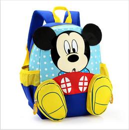 Wholesale School Backpack Bags For Kids - 2017 Hot Cartoon mickey children backpacks kids kindergarten backpack kid school bags Satchel for boys and girls free shipping