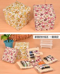 Wholesale Projects Sewing - DHL Multi-function Damask Sewing Basket with Sewing Kit Accessories with Everything You Need to Tackle the Most Complicated Sewing Projects