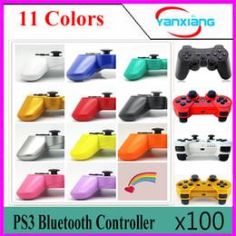 Wholesale Joystick Vibration Game - 100pcs Vibration Wireless Bluetooth Game Joystick for PS3 wireless controller YX-PS3-AA