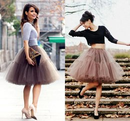 Wholesale Black Tutu Petticoat - Girls Tutu Skirt for Summer 2017 New Collection Real Image Fashion Women Clothing Short Ball Gowns Petticoat A Line Tiers Tulle CPA539