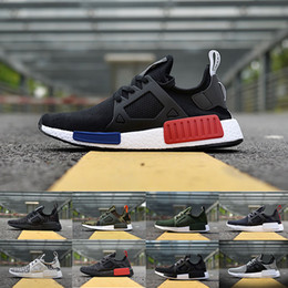 Wholesale Cotton Duck Canvas - Original NMD XR1 PK Running Shoes Cheap Sneaker NMD XR1 Primeknit OG PK Zebra Blue Shadow Noise Duck Camo Core Black Fall Olive