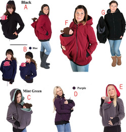 Wholesale Cotton Baby Carrier - Multifunctional Maternity & Baby & Hoodies 2017 Baby Carrier Jacket Casual Winter Zipper Coat For Pregant Women Thickened Hoodies 7COLORS