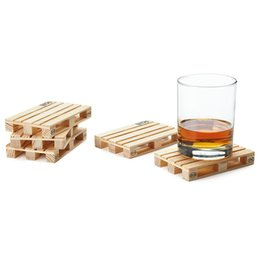 Wholesale pallet wood coasters wooden coasters care coasters creative home life decoration environmentally friendly materials wine coffee table decora