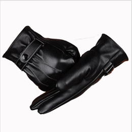 Wholesale Quality Gauntlets - The touch screen Fashion New Hot sale Winter gloves Mens Leather gloves Cycling Driving Gloves pu waterproof glove High quality