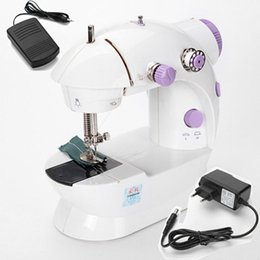 Wholesale Electric Sew Machine - High Quality Multifunction Electric Mini Sewing Machine Household Desktop With LED New Popular Mini Sewing Machine