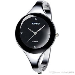 Wholesale kimio watches - Good quality Fashion Women Girl KIMIO Round dial stainless steel Band Bracelet Wrist watch