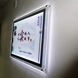 Wholesale Wholesale Poster Light Box - ACRYLIC BACKLIT POSTER FRAMES A1 POSTER SIZE CRYSTAL FRAME LED LIGHT BOXES