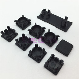 Wholesale Hdd Plastic Cover - Black Slim Rubber Boot Pads for PS3 Best Plastic Screw Cover Kit 9 Pieces Hdd Swivel Door for Sony Playstation 3