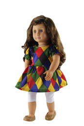 """Wholesale Best Western Gift - Doll Clothes Fits 18"""" American Girl Doll Handmade Dress for Doll Kids Play House Toy Best Gifts Dolls Accessories"""