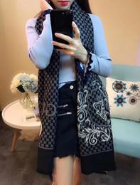 Wholesale Pashmina Pattern - Top Qualtiy 180cm*70cm cashmere Euro Brand French designer scarf Pattern Printed G Women Gift shawl scarf 3 COLORS A-021