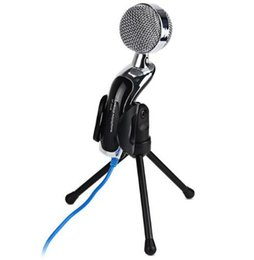 Wholesale Professional Condenser - SF-922B Professional USB 3.5 mm Condenser Microphone Mic Studio Audio Sound Recording With Stand for Computer Notebook Karaoke
