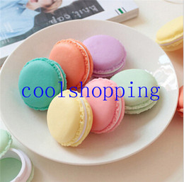 Wholesale Plastic Candy Pieces - Cute candy stationery storage box Mini macaron case for clips eraser jewelry organizer zakka Table decoration