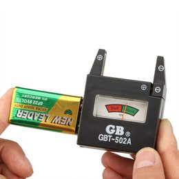 Wholesale Aa D - GBT-502A Pointer Battery Tester for 9V  AA   AAA   C   D   N Batteries 1.5V Button Cell Batteries Voltage Checker Detector H14749