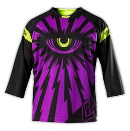 Wholesale T Fr - Motocross Men's breathable eye long sleeve SE Corse MTB T-shirt Moto GP Jerseys BMX MTB DH FR BICYCLE CLOTHES Multi-Colors