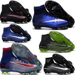 Wholesale Shoes Children Slip - Children 2016 High Ankle NeyMAr HypeRVEnom PhanTOm Footbal Boots Mens Soccer Cleats ChuTEira SuperFLYs FG magista obra Kids Soccer Shoes