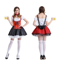 Wholesale Beer Maid Dress - Germany beer festival costumes Halloween dress maid servant nightclub theme party stage costumes