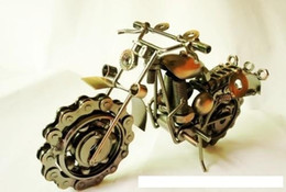 Wholesale idea models - 2016 hot sale motorcycle davidson models oversized iron metal crafts creative gift ideas home decoration crafts