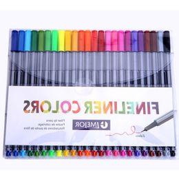Wholesale Plastic Garden Boxes - Wholesale 24 colors fineliner pen sketch marker pen Drawing fiber tip pens for coloring book secret garden gel ink pen set 0.4mm Free DHL