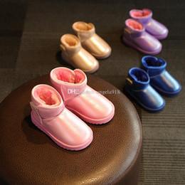 Wholesale Kids Wholesale Shoes Cheap - baby Snow Boots Cheap Kids Shoes Unisex Boots Warm Stable Winter waterproof bootie Shoes 4 colors C1591