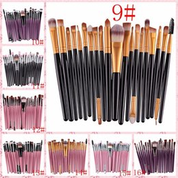 Wholesale Wholesale Cheap Nylons - IN STOCK Cheap 21 color 20 OPP bag eye makeup brush set brush eye shadow brush neutral no logo DHL or SF Express free shipping