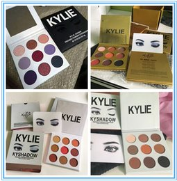 Wholesale Gold Glitter Powder - kylie fall collection purple New Makeup Eyes gold Kylie KyShadow eyeshadow Pressed Powder Eyeshadow Palette Mini 9 Colors Eyeshadow 12pcs