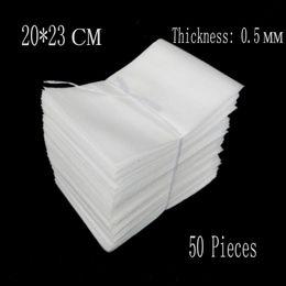 bolsas de espuma eva Rebajas Al por mayor-20 * 23cm 0.5mm 50 Unids EPE Bolsas de Protección Embalaje Wrap Polietileno Tablero de Aislamiento Eva Foam Sheet Material de Acolchado Verpakking