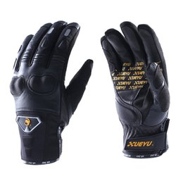 Wholesale Motorcycle Racing Accessories - Unisex Motorcycle Gloves Outdoor Sports Motorbike Motocross Gloves Full Finger Bike Racing Gloves Moto Accessories Black Size M L XL