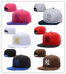 Wholesale Fashion La - Wholesale new brand ny Long brim Baseball cap LA dodge hat classic Sun hat spring and summer casual fashion outdoor sports baseball cap