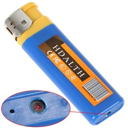 Wholesale Lighters Hidden Camera - Lighter Camera Mini USB Spy Lighter Hidden Camera Pinhole Cam DV Lighter Blue Yellow Color