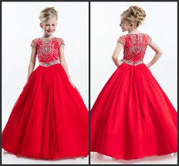 Wholesale Beautiful Birthday Dresses For Toddlers - Dress For Wedding Party Dress Best Beautiful Girls Capped Short Sleeve Crystals Zipper Back Formal Communion Dresses Major Beading Cute
