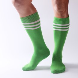 Wholesale Nylon Socks For Children - Compression socks Sport Striped socks knee high football &basketball& skateboard socks high elastic stockings for all adults &children