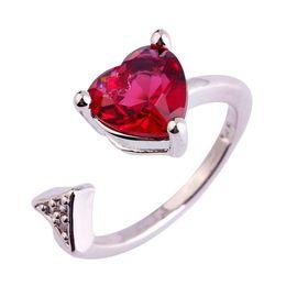 Wholesale Pink Tourmaline Jewelry - Cupid's Arrow Pink Tourmaline Silver Ring Size 6 7 8 9 10 11 handmade 925 Jewelry Women Free Shipping Wholesale