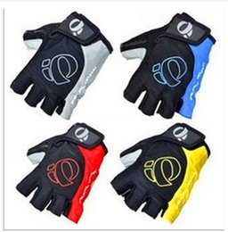 Wholesale Road Bike Winter Gloves - Breathable Mountain Road Cycling Gloves Anti-slip Bike Golves Anti-shock Half Finger Bicycle Gloves DHL Fast Shipping