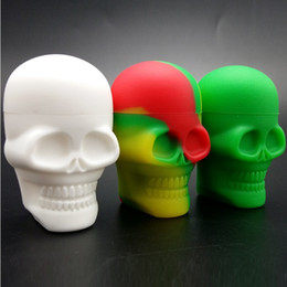 Wholesale Dab Wax - Skull Shape 15ml Non-stick Silicone Container food grade silicone customized small silicone jars dab wax container