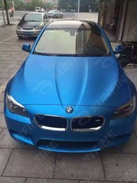 Wholesale Matt Blue Vinyl - Car Styling Wrap Matt Ice Light Blue Car Vinyl film Body Sticker With Air Free Bubble For Vehiche 1.52*20M  Roll KF-F1020