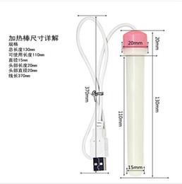 Wholesale Sex Flashlights - hot seller USB Heating Rod For the Mens' Masturbators Flashlight Pocket Pussy Warmer Adult Sex Toys for men