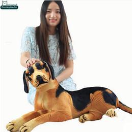 Wholesale Brown Dog Stuffed Animal - Dorimytrader 31''   80cm Big Emulational Dog Toy Stuffed Soft Plush Funny Animal Dogs Doll Great Babies Present Free Shipping DY60983