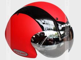 Wholesale Time Bicycles - Wholesale-2015 Professional TT Bicycle Helmet Time Trial Bike Cycling Helmets +Goggle (High Quality+Ultra Light)