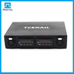 Wholesale Pc Heater - Dual Pelican Box TCENAIL Kit Temperature Controller Box with 2 pcs coil heaters DHL free shipping