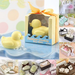 Wholesale Little Duck Yellow - Creative Little Duck Soap Shape Organic Soap Fall Love Wedding Favors Creative Gifts Mini Bath Soap Cleansing Soap Gift Set