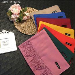 Wholesale Plain Gift Wrap - Wholesale 20 Colors Pashmina Cashmere like Designer Silk Solid Shawl Wrap Scarf for Women Fashion Designer Scarf Scarves Christmas Gift