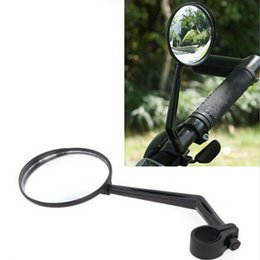Wholesale glass safety - New Sports Bicycle Bike Road Handlebar Glass Rear View Mirror Reflective Safety Convex Rearview Mirror Cycling Accessory