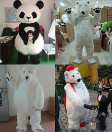 Wholesale polar bear costume adult - 2017 Factory made Lovely Polar Bear Mascot Costume Adult Size Animal Theme White Bear Mascotte Mascota Outfit Suit Fancy Dress